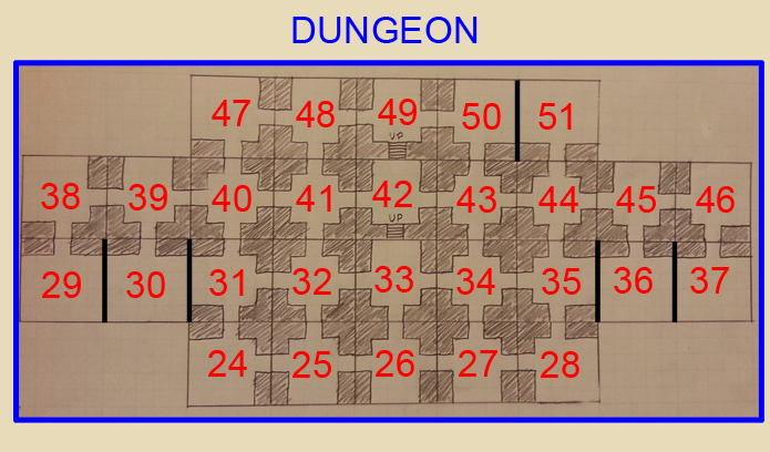 Dungeon Level Map