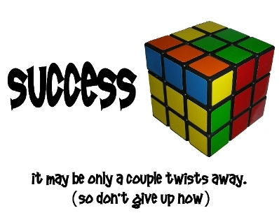 Sucess is solving the Rubiks Cube